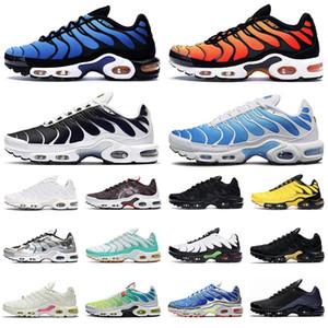 nike tn air max plus shoes hombres mujeres zapatos para correr ultra triple negro blanco OG Hyper Blue Total Crimson para hombre entrenador moda zapatillas deportivas corredor