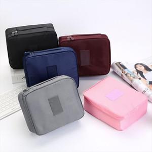MODYCON Zipper Uomo Donne sacchetto di trucco di caso di bellezza Cosmetic Bag Nylon Make Up dell'organizzatore toeletta Bag Kit bagagli di viaggio di lavaggio Pouch