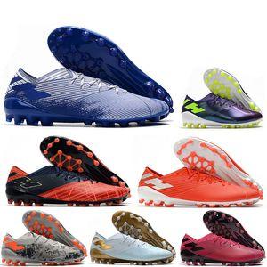 Hot Nemeziz 19,1 AG Messi Futebol Mens 19 + x Sapatos Futebol agilidade Bandage Spectral modo de Futebol Botas Grampos Tamanho US6.5-11