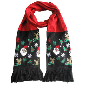 Christmas LED String Light Knit Scarf Men And Women Autumn And Winter Warm Tassel Scarf 12 Lights Party Holiday Gift Warm