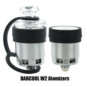 DABCOOL originale W2 Enail Atomiseur Hookah cire concentré Coil Budder Dab Rig Vape Kit Avec 4 réglages de chaleur Long Lasting Réservoir 100% authentique