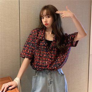 KVlyp летнего сезона нового дизайн Гонконг стиль блудницы одежда лето 2020 XIN 2020 NV Чжуан с коротким рукавами печатный топ для женщин