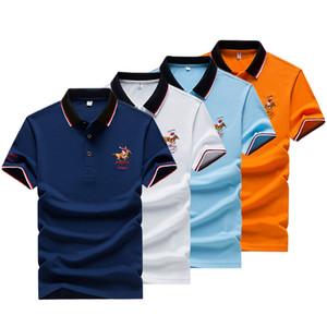 2020 Summer New Mens Polo Shirt Men Embroidery Polo Shirt Men Casual Polo Shirt Solid Color Short Sleeve
