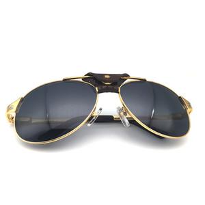 Retro pilota Occhiali da sole Uomini Carter Occhiali Santos Shades Occhiali da sole di modo delle donne di lusso retro occhiali di Natale 554