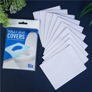 일회용 화장실 패드 10PCS / 많은 휴대용 화장실 시트 커버 트래블 호텔 용존 물 일회용 화장지 욕실 액세서리 OWE760