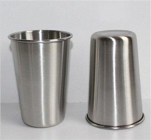 Cheapest 16 once strato di acciaio inossidabile Beer Cup 16 once singolo di piegatura Tumblers bambini infrangibile bicchiere di birra tazza di latte 500ml tazza Cr55 #