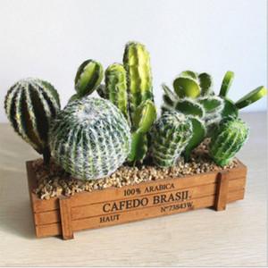 Vários Artificial Cactus Succulent Falso verde PU deserto Plantas Mini Red Faux pequeno Suculentas Flor Arranjo Decor Jardim Od4n #
