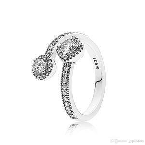 FAHMI 100% 925 Sterling Silver 1:1 Original Authentic Charm 191031CZ Temperament Fashion Glamour Retro Ring Wedding Women Jewelry