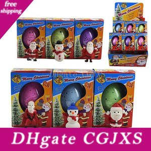 Wonderful Crescer Natal mágica Egg Papai Noel Boneco inflado Easter Egg brinquedo educativo novidade presente Xmas Crianças 6 cores La207