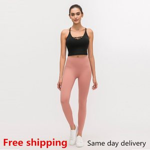 livraison gratuite! Couleur pure dames coiffeurs stylistes hauts taille d'entraînement vêtements stretch leggings conditionnés fitness pantalon de sport femme pantalon de yoga