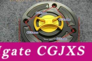 Tapa del tanque de la cubierta del tanque de combustible del CNC de la aleación de aluminio de la motocicleta del casquillo de gas para Suzuki GSX600 GSXR600 GSXR750 Sv650 GSXR1000 TL1000 GSF1200 4 agujeros