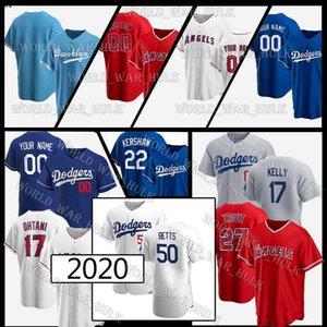50 Mookie Betts Trikots Individuelle Dodgers 74 Kenley Jansen 17 Joe Kelly Cody Bellinger Justin Turner Engel 27 Mike Trout Shohei Ohtani 01