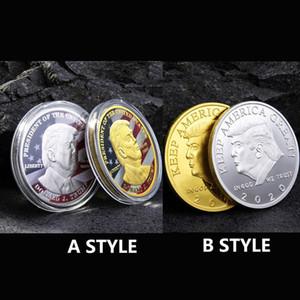 Monete Donald Trump Presidente Moneta Commemorativa Trump Ferro da collezione regalo America del Presidente Trump Moneta commemorativa all'ingrosso EWC964