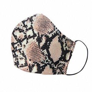 Máscaras Mujer de poliéster algodón de la cara reutilizable lavable leopardo máscara a prueba de polvo anti-Haze PM2.5 máscara con filtros 2pcs ZZA2149 YsZn #