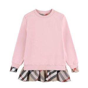 Ratail bebek kız kısa kollu pileli polo gömlek etek çocukların gündelik giyim tasarımcısı çocuklar giysi ilmek çocuk yaka kolej rüzgarı elbise