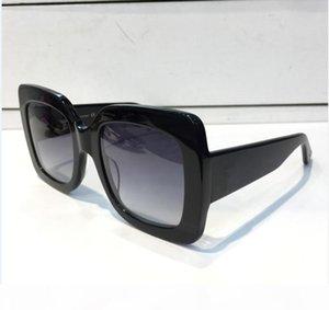 Роскошный женский Марка 0083S Крупногабаритные квадратные черные солнечные очки женщин Модные солнцезащитные очки Новые женщины Очки солнцезащитные очки Крупногабаритные площади Су