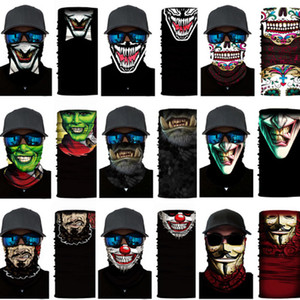 Unisex Head Mask Mask See Hear Header Biker Tube Bandana Scarf Wristband Beanie Cap BalaClava Судя по головным отдыхам Многофункциональные Маски для вечеринок FY713
