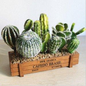 Vários Artificial Cactus Succulent Falso verde PU deserto Plantas Mini Red Faux pequeno Suculentas Flor Arranjo Decor Jardim NMft #