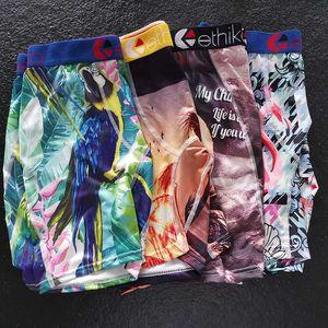 Shorts respirável Men Ethika Underwear Macio Homens Boxers Breve Carta Cueca For Men Sexy Male Boxer Shorts calças de praia Quick Dry