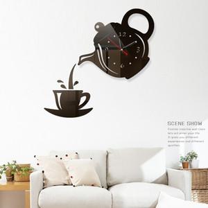 Promosyon Yeni Ev Dekorasyonu Büyük Roma Ayna Moda Modern Kuvars Saatler Salon Diy Duvar Saati Sticker İzle Bedava Kargo