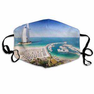 Maschera di Halloween per l'adulto di Natale Maschera Hotel Burj Al Arab di Dubai e un porto turistico sport esterni alla polvere maschere traspirante viso