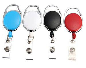 Retractable Pull Key Ring Chain Reel ID Lanyard Name Tag Card Badge Holder Reel Recoil Belt Key Ring Clip AHD924