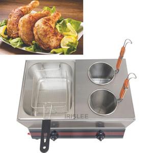 Vendendo máquina fritadeira a gás de aço inoxidável comercial para churros batatas fritas frango twister espiral tornado batata