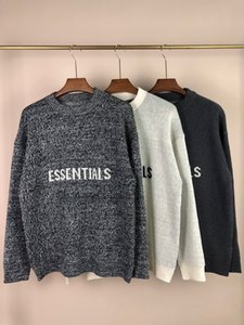 2020SS High Quality New Cotton Sweater Fear of God-FOG ESSENTIALS Logo Letter Brand Men and Women S-2XL