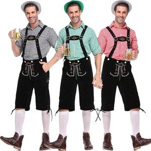 M-XL 2020 main push German beer festival clothing adult Plaid suspender pants men's beer suit