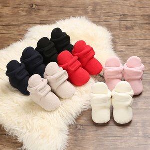 Baby Girls Boot Shoes Toddler Fleece Snow Boot Infant Soft Bottom Solid Crib Shoes Baby Autumn Winter Warm Shoe 0-18M
