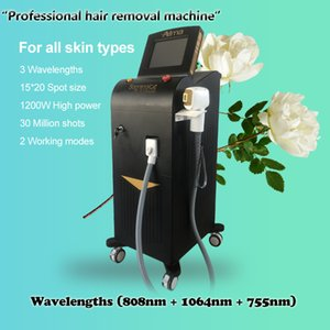 CE approved fiber laser hair removal machine Laser 755 808 1064 nm   diode laser hair reduction for all kinds of skin
