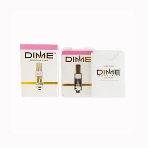 جديدة فارغة DIME خرطوشة VAPE القلم عربات 0.8ML 510 الذهب دبابات سميكة النفط لفائف السيراميك فارغة البخاخة القلم مع زائد مربع التعبئة والتغليف