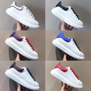 Erkekler Büyük Boy Platformu Sneakers Yansıtıcı Beyaz Kutu EU35-46 ile Buzağı Deri Sneaker Dantel-up Yeni Kadın Kauçuk Sole Runner Koşu Smooth