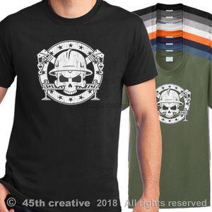 2019 Yeni Pamuk Tişört Vinç Operatörü Tişört - Kule Vinç Kafatası Gömlek Boom Vinç Kamyon Logo T-Shirt Yaz Stili Tee Gömlek