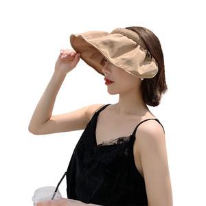 New Bucket Hat Women Shell Hat Dual-use Hair accessory Sunscreen Cotton Fishing Hunting Cap Basin Chapeau Sun Prevent