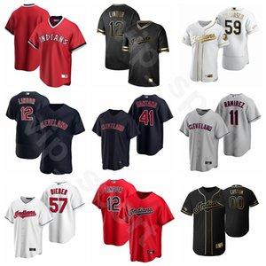 2020 Beyzbol 7 Cesar Hernandez Jersey 79 Connor Marabell 1 Greg Allen 35 Oscar Mercado 57 Shane Bieber Rick Vaughn Özel Ad Numara