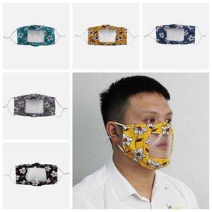 Maske Gesicht Visible Mode Gesichtsmaske Designer Masken wiederverwendbare Maske mit Klarsichtfenster Ausdruck für die Gehörlosen schwerhörig DHB986