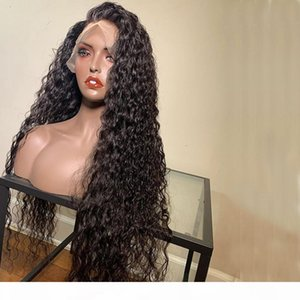 Loose Wave Peruvian Full Lace Human Hair Lace Front Wig with Baby Hair 13x6 Deep Part Lace Frontal Curl virgin Human Hair Wigs