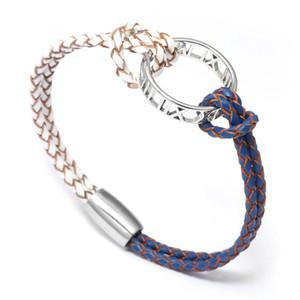 2020 New Women Bracelet Genuine Leather Silver Multicolor Wristband Enwind Bracelets Fashion Lady Bangles Friend Gift