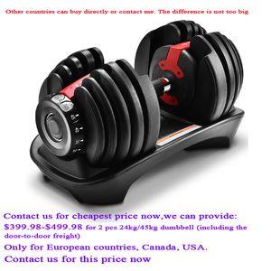 Dumbbells 2021 52.5lb تعديل الدمبل قابل للتعديل 24 كيلوجرام المنزلية سريعة التلقائي جودة عالية معدات اللياقة البدنية