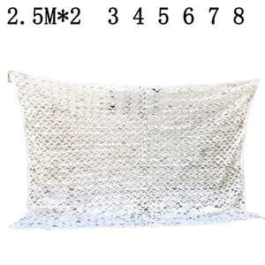 Sun Shelter L 2.5M W2 3 4 5 6 7 8M white Camouflage Net Reinforced for Garden Decoration sun shade tent for car beach tent