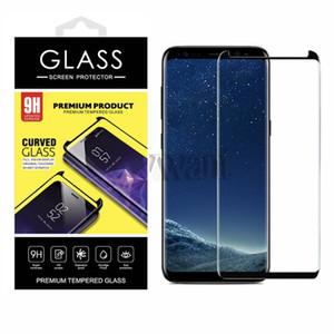 Caso amigável vidro moderado para o Samsung Galaxy Note 20 S20 Ultra Nota 10 S10 Além disso 3D Curved caso Versão Phone Screen Protector com pacote
