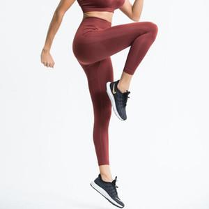 Seamleass Training Legging Back Letter Printed Hi-rise Tight Yoga Sports Pants for Female Gym Fitness Jogging Running
