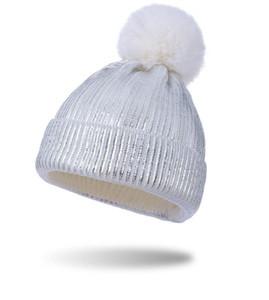Winter Warm Knit Hat Pom beanies Gold Blocking Knitting Hat Women Men Fashion Outdoor Sports Casual Crochet Hats Caps Two Colors EWC2431