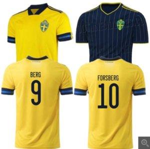 2020 السويد الرئيسية لكرة القدم بعيدا جيرسي # 7 LARSSON رقم 9 BERG ISAK الموحدة رجل # 11 GUIDETTI # 12 جونسون QUAISON كرة قدم