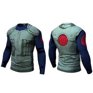 New Fitness Compression will will t shirt Men naruto armor naruto Bodybuilding Long Sleeve 3d t shirt Gym Tops Shirts 0921