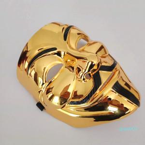 Mascarilla de oro de la plata partido de la máscara para los trajes de la cara carnaval Bachelorette Party Supplies Hallow de Halloween