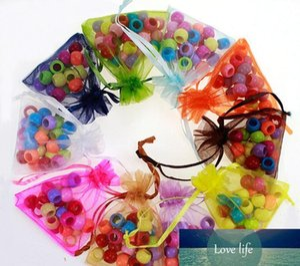 Цвета 7 * 9см сетка органзы мешки подарка ювелирных изделий мешок Свадеб Xmas подарка конфеты мешки Drawstring сумки пакет 240197