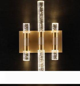 Bubble post-moderne Crystal Wall Lamp Luxury Led Applique murale Salle de bain Miroir Lumière Décoration d'intérieur Éclairage LLFA