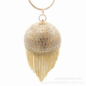 Ball bag Pearls handbags diamond tassel banquet Clutches Hand-made good quality for bridal and lady at party wedding evening acrylic